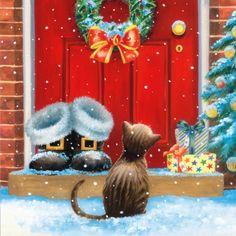 3570 Servilleta decorada Navidad