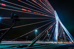 #wishyouwerehere is the #message of the #erasmusbrug  #decorated #signalflags #rotjeknor #sonya58 #best_longexposurepics #chasingtheblue #wonderful_holland #holland_photolovers #wonderful_places #igersrotterdam #ig_nederland #travel #cityscape #harbor #citylights #super_holland #rotterdam #rotturban #rotterdam010 #010bynight #010 by avezaath