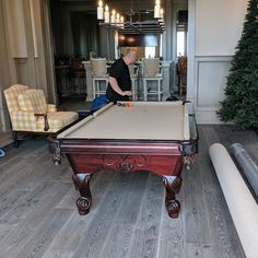 Finished Installing This Custom Pool Table From Admiral Pool Tables - Dismantle pool table