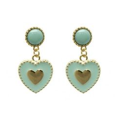 MATTE FINISH METAL NATURAL STONE CHARM EARRING  @  https://www.allaboutyougifts.com/#AllAboutStyle