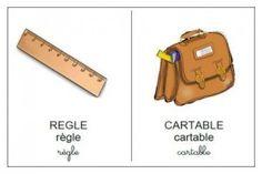 léxique matériel de classe maternelle