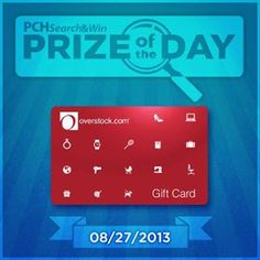 Too much or just enough? Today we're award 5 Overstock.com gift cards valued at $150 each! Will you be one of the 5 lucky winners? #PCH #PrizeofTheDay