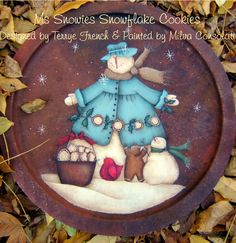 Ms Snowies Cookies by Milvi Consolati for Painting with Friends. E-Pattern by PaintingWithFriends on Etsy
