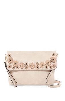 f9691d03ea Urban Expressions - Floral Flap Vegan Leather Convertible Clutch Mini  Backpack Purse