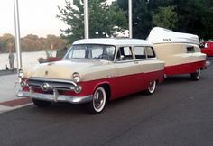 This 1952 Ford Ranch Wagon with a matching Kom-Pak Camper, one of only 6 such campers believed to remain.