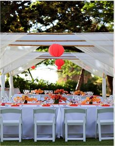 Orange Wedding and outside!