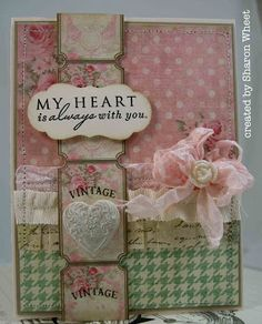 The Shabby Tea Room (blog)...  Love the colors, lace, elements an combination of loveliness of this card.