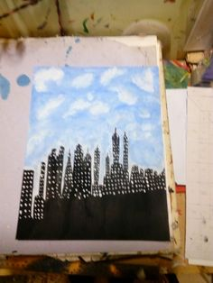 A Painting of New York Skyline in water colour made by me