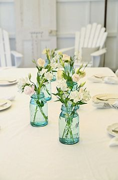 blue canning jars . . . LOVE! I wonder if I can find them over here
