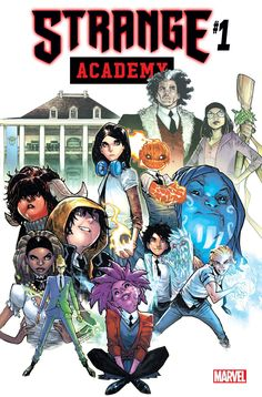 Strange Academy cover by Humberto Ramos,colours by Edgar Delgado * Strange Marvel, Ms Marvel, Doctor Strange, Marvel Dc Comics, Captain Marvel, Skottie Young, Gi Joe, Dc Universe, Brother Voodoo