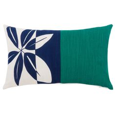 Multicoloured Cotton Cushion Cover with Floral Print Passiflora Bunt, Floral Prints, Cushions, Throw Pillows, Design, Patio, Green, Products, Cushion Covers