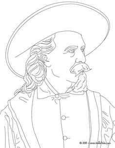 jesse james coloring page icolor the old west buffalo bill