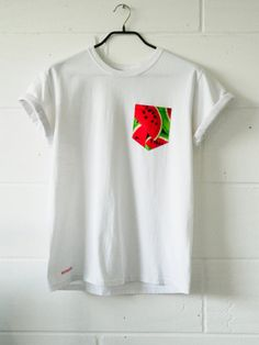 Men's Melon Pattern Pocket TShirt Men's T Shirt by HeartLabelTees, £9.95