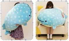 Most Wanted: Giant Jinbe San Plush - Super Cute Kawaii! Kawaii Gifts, Cute Plush, All Things Cute, Cute Characters, Dinosaur Stuffed Animal, Stuffed Animals, Cute Pictures, Sewing Projects, Toys