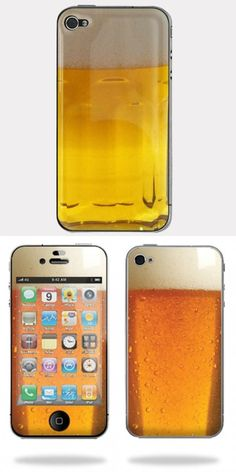 [Beer-like iPhone Skin] Summer is around the corner, we need a cup of cold beer, even just look at it!