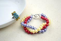 Handmade beaded jewelry designs-simple pearl bracelet and ring set – Pandahall