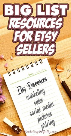 A Really Big List of Etsy Tools & Resources (50+ and counting!) I love finding great Etsy tools and resources that can help me and my peeps really rock our Etsy shops! I put a call out in some of the groups that I follow and am sure that I will get more and more suggestions as this post goes along!
