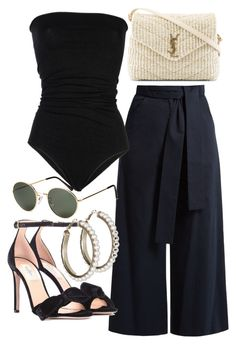 """""""Untitled #21961"""" by florencia95 ❤ liked on Polyvore featuring Laneus, Valentino, Yves Saint Laurent and H&M"""