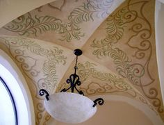 Gorgeous Florida groin ceiling by artist Jeff Huckaby.