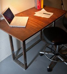 Reclaimed Wood  Metal Drawing Table   Home Furniture   A+R Busch   Scoutmob Shoppe   Product Detail