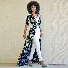 Buy Blue Floral Print Sashes V-neck Fashion Maxi Dress online with cheap prices … Vestidos Fashion, Women's Fashion Dresses, Classy Outfits, Stylish Outfits, Work Outfits, Mode Kimono, White Dress Pants, Dress Over Pants, Cheap Maxi Dresses
