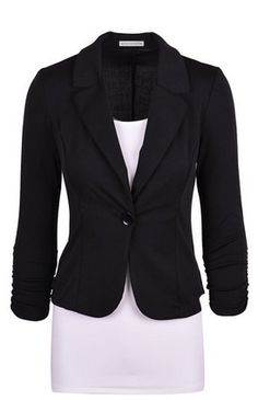 Women's Casual Work Solid Candy Color Blazer