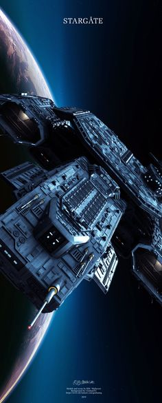 Stargate - Daedalus by Mallacore on DeviantArt Stargate Ships, Stargate Atlantis, Alien Aesthetic, Stargate Universe, Babylon 5, Concept Ships, Star Citizen, Spaceship, Futuristic