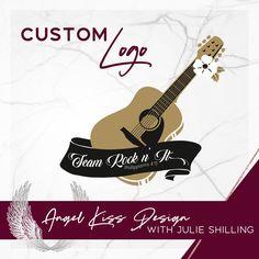 Guitar Logo for Team Rock n' It Guitar Logo, Angel Kisses, Marketing Materials, Business Logo, Custom Logos, Team Logo, Logo Design, Rock, Locks