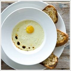 Chef's Recipes | recipe for Baked Farm Egg from chef Steven Satterfield of Miller Union in Atlanta, GA.