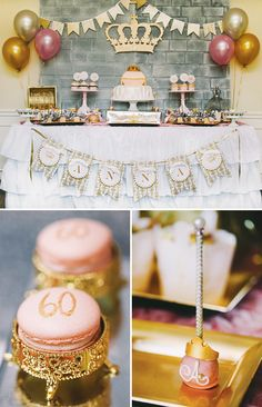 Magnificent Royal Birthday Party // Hostess with the Mostess® Queen Birthday, 90th Birthday, 1st Birthday Parties, Birthday Celebration, Classy Birthday Party, 60th Birthday Ideas For Mom, 60th Birthday Party Decorations, Party Favors, Wedding Decorations