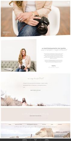 Showit Website Templates for Photographers & Creatives | Briella Rose | Franklin & Willow Branding & Web Design #designs #webdesign #websites #cutewebsites #girlywebsites #creatives #startyourownbusiness #business #logos #showit #branding