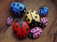 Hand Painted Ladybird Pebbles