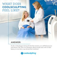 Ever wonder what #CoolSculpting feels like? Here's your answer! #WhattoExpect