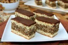 Prajitura Nicu Hungarian Desserts, Romanian Desserts, Romanian Food, Hungarian Recipes, Sweets Recipes, Cake Recipes, Non Plus Ultra, Homemade Cookies, Dessert Drinks