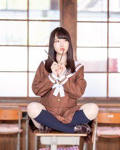 School Girl Japan, School Girl Outfit, Japan Girl, Girl Outfits, Cute Japanese Girl, Japanese School, Cute Asian Girls, Cute Girls, School Fashion