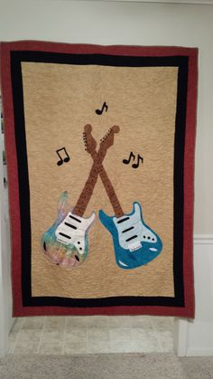Applique Guitar quilt
