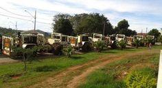 Em Carlópolis, cidade que também integra o Projeto Angra Doce, os caminhões vibradores realizaram testes na região central da cidade, onde os moradores puderam sentir a intensidade dos tremores. Foto: César Silva