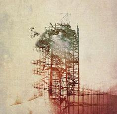 Área Visual - Blog de Arte y Diseño: Hiki Komori. Fotografías de doble exposición
