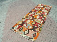 Runner rug ANATOLIAN VINTAGE Turkish Kilim runner by PergamonArt