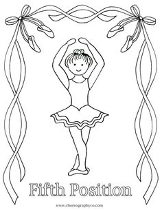reproducible ballet coloring pages master small_page_05 fifth position