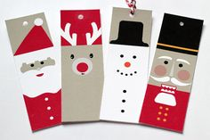Printable Holiday Gift Tags // Christmas by flutterflutterstudio