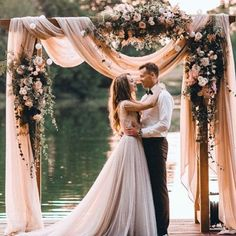 "72 Likes, 1 Comments - Table 6 Productions (@table6productions) on Instagram: ""In love with this romantic ceremony arch from @weddinginclude  Florals and chiffon are always…"""