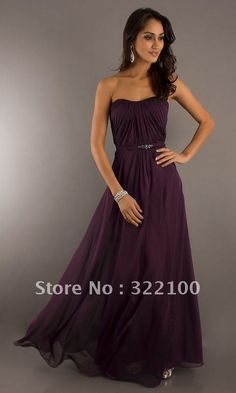 DARK PURPLE BRIDESMAID DRESSES - Yuman Dakren