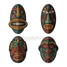 Набор масок африканских этнических племен