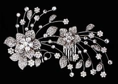 Wedding Hair JEWELRY | Crystal, Rhinestone Party Wedding Bridal Flower Hair Comb jewelry for ...