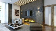 Haben Sie Sich Für Eine Schicke Und Natürliche Erscheinung Entschieden  ,könnten Sie Aus Einer Steinwand Wohnzimmer Nur Profitieren. Während  Betonwände .