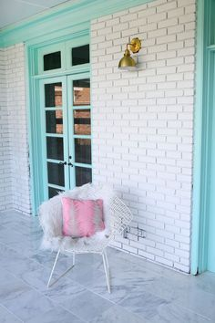 How to paint brick courtesy of Elsie from A Beautiful Mess