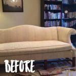 Πριν & Μετά: Κιμωλία Paint Καναπές