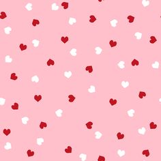 red and white scattered hearts cute valentines day hearts fabric fabric by charlottewinter on Spoonflower - custom fabric