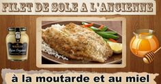 Filet de sole à la moutarde à l'ancienne « Maigrir Sans Faim Fish And Seafood, Baked Potato, Easy Meals, Turkey, Potatoes, Nutrition, Chicken, Baking, Ethnic Recipes